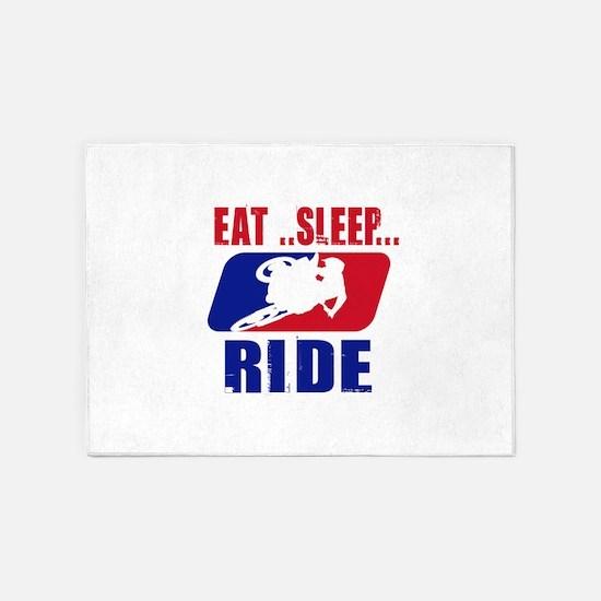 Eat sleep ride 2013 5'x7'Area Rug