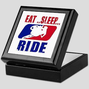 Eat sleep ride 2013 Keepsake Box