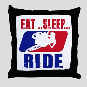 Eat sleep ride 2013 Throw Pillow