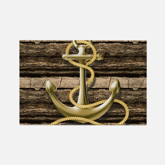 shabby chic vintage anchor Magnets