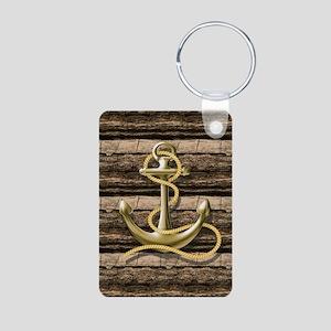 shabby chic vintage anchor Keychains