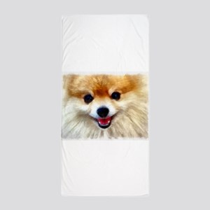 Pomeranian Smile Beach Towel