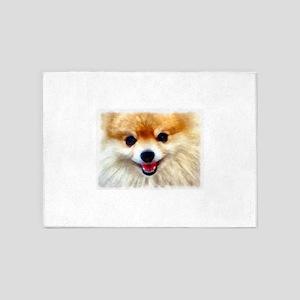 Pomeranian Smile 5'x7'Area Rug