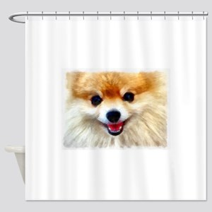 Pomeranian Smile Shower Curtain
