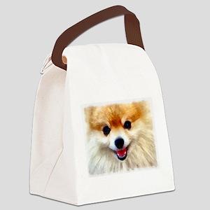 Pomeranian Smile Canvas Lunch Bag