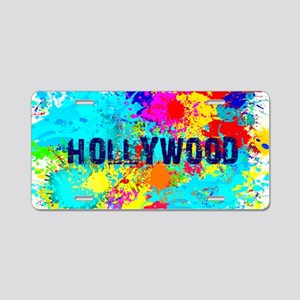 HOLLYWOOD BURST Aluminum License Plate
