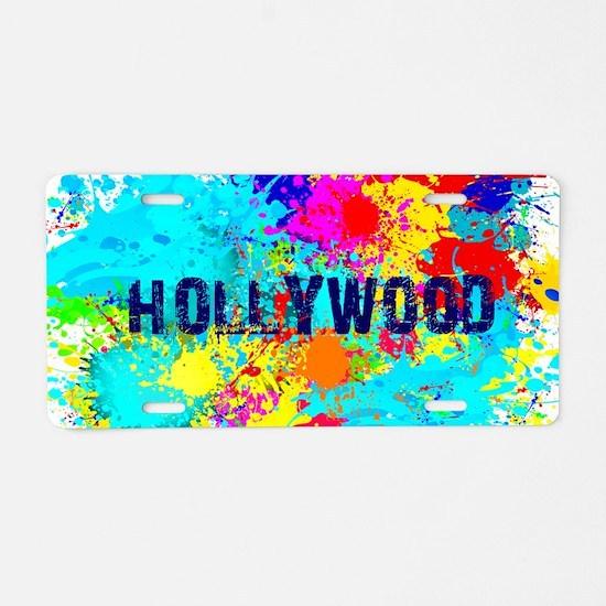 HOLLYWOOD BURST Aluminum License Plate