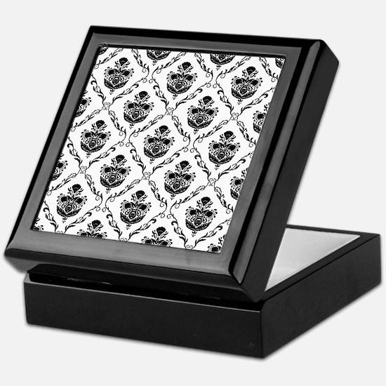 Traditional Black Damask Keepsake Box