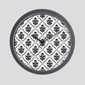 Traditional Black Damask Wall Clock