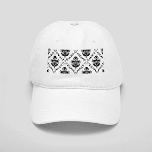 Traditional Black Damask Cap