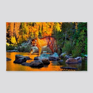Autumn Cougar Area Rug