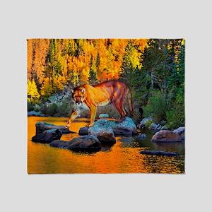 Autumn Cougar Throw Blanket