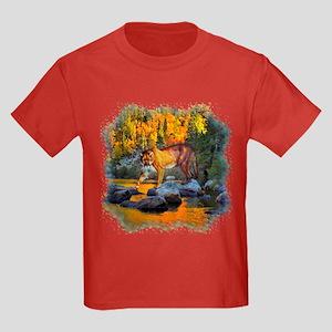 Autumn Cougar Kids Dark T-Shirt