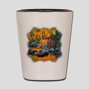 Autumn Cougar Shot Glass