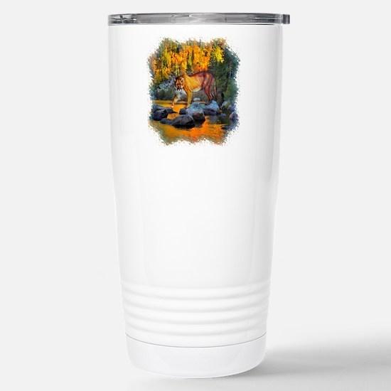 Autumn Cougar Stainless Steel Travel Mug