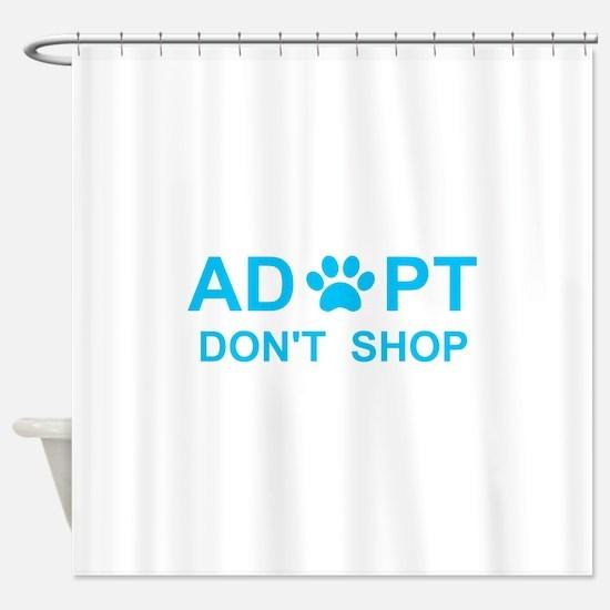 Dog adoption Shower Curtain