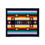 Rainbow Warrior Indian Motif Throw Blanket