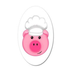 Chef Pig BBQ Farm Cook Wall Decal