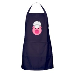 Chef Pig BBQ Farm Cook Apron (dark)