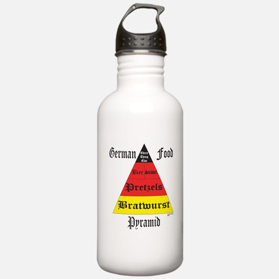 German Food Pyramid Water Bottle