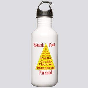 Spanish Food Pyramid Stainless Water Bottle 1.0L