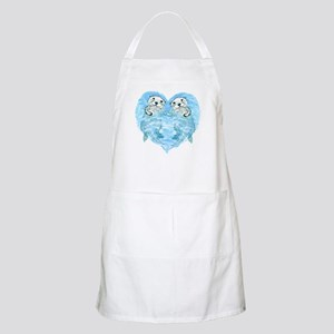 sea otters holding hands BBQ Apron