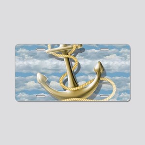 cloudy blue sky nautical an Aluminum License Plate