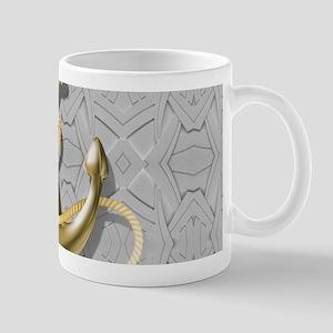 nautical anchor grey geometric pattern Mugs