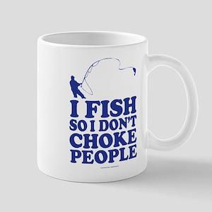 Fishing and Choking People Mugs