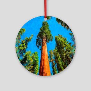 Sequoia National Park Round Ornament