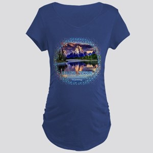 Grand Teton National Park Dark Maternity T-Shirt