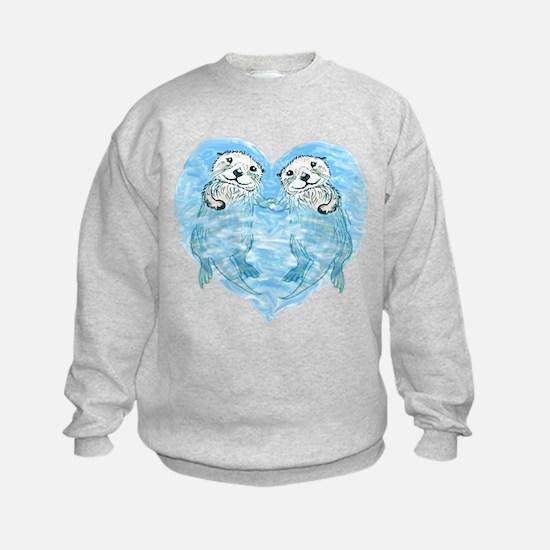 sea otters holding hands Sweatshirt