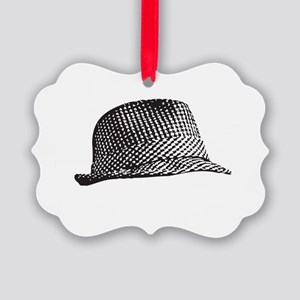 Houndstooth_Middle Picture Ornament