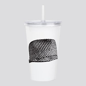 Houndstooth_Middle Acrylic Double-wall Tumbler