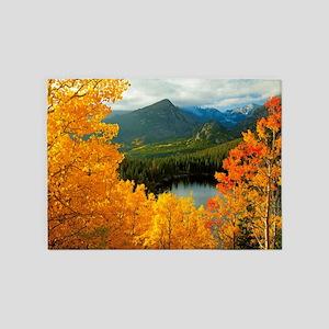 Rocky Mountain National Park 5'x7'Area Rug