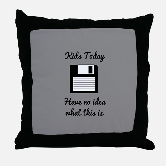 Funny Floppy Disk Throw Pillow