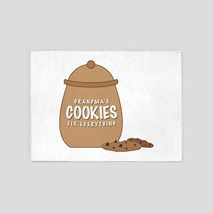 Grandmas Cookies 5'x7'Area Rug