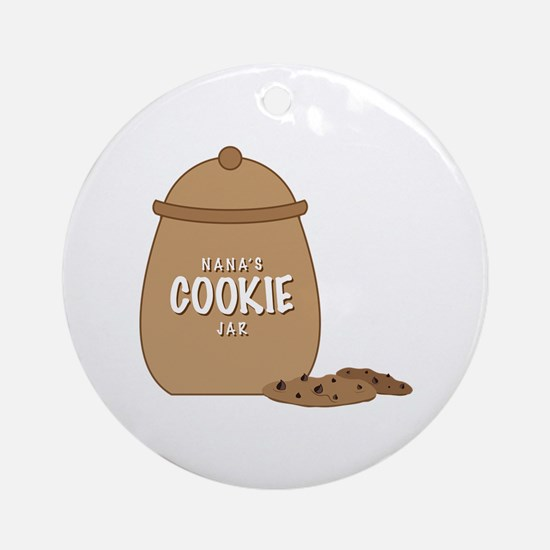 Nanas Cookie Jar Round Ornament