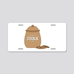 Nanas Cookie Jar Aluminum License Plate