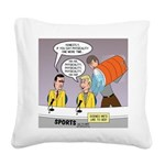 Physicality Overused Square Canvas Pillow