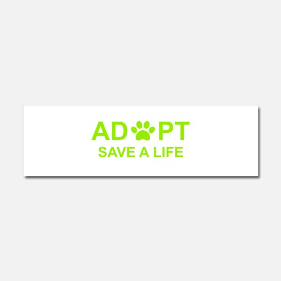 Adopt a shelter pet Car Magnet 10 x 3