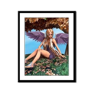 Autumn Angel Framed Panel Print