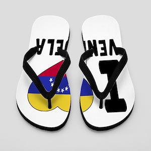 I Love Venezuela Flip Flops