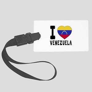 I Love Venezuela Large Luggage Tag