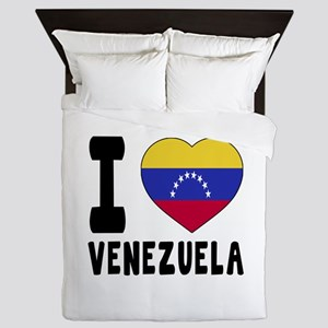 I Love Venezuela Queen Duvet