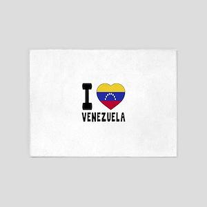 I Love Venezuela 5'x7'Area Rug