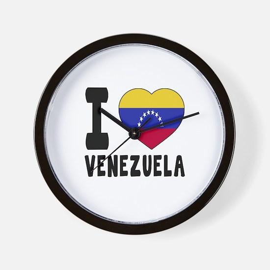 I Love Venezuela Wall Clock