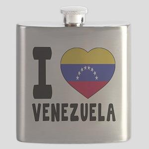 I Love Venezuela Flask