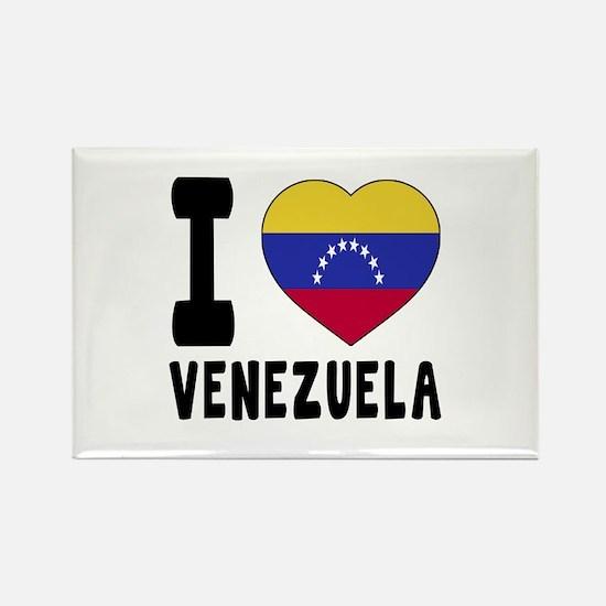 I Love Venezuela Rectangle Magnet