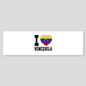I Love Venezuela Sticker (Bumper)